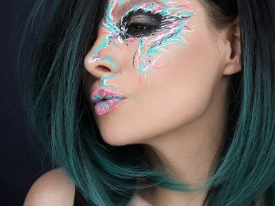 Креативный макияж лица сухими подводками: есть идея!