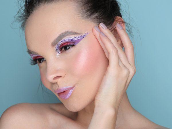 Креативный зимний макияж 2020 – образ уходящего года