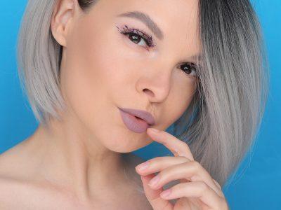 Как сделать легкий креативный макияж глаз одним продуктом