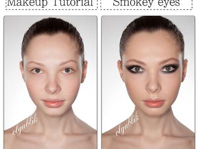Макияж для серо-зеленых глаз Smoky Eyes – пошаговый урок