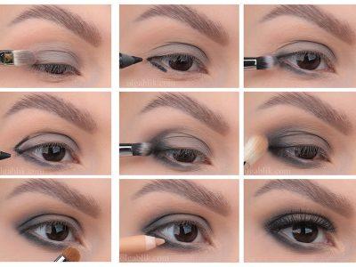 Макияж глаз в серых тонах: пошаговый фото-урок