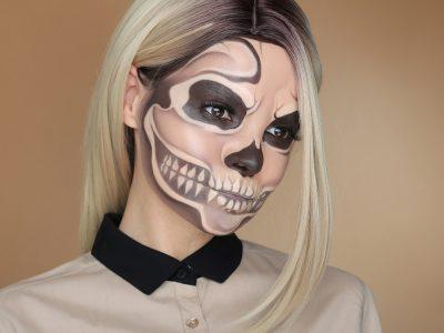 Как сделать макияж скелета на Хэллоуин