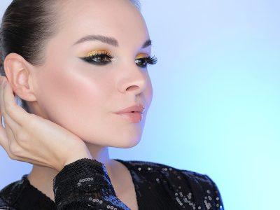 Макияж на Новый год 2019 под черное платье – пошагово