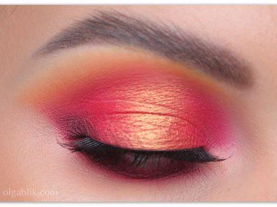 Как сделать макияж с бордовыми тенями