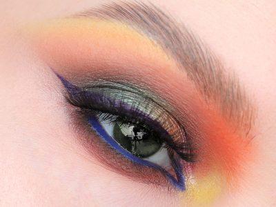 Макияж с цветными тенями