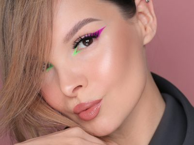 Неоновые стрелки на глазах 2021: весенний макияж