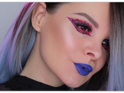 Неоновый макияж глаз: импровизация