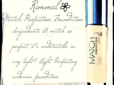 Rimmel Match Perfection Foundation: отзывы и фото