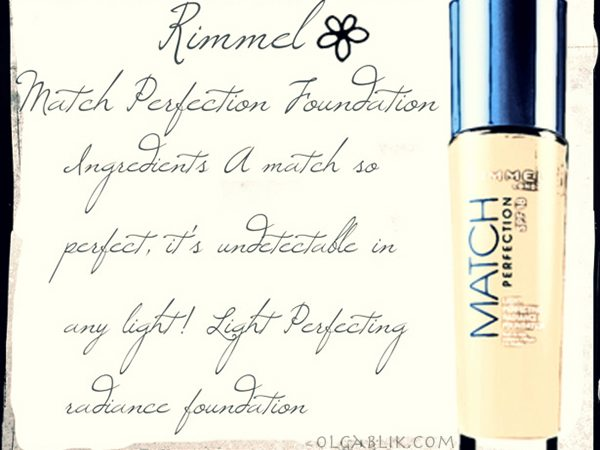 Rimmel Match Perfection Foundation: отзывы и фото