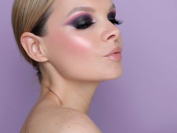 Смоки Айс в фиолетовых тонах: вечерний макияж