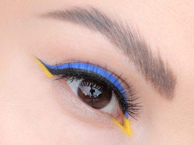 Урок дня: учимся рисовать цветные стрелки на глазах