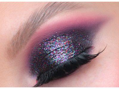 Вечерний макияж с блёстками на глазах: ошибки нанесения